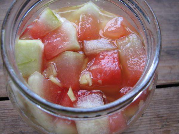 моченые арбузы с яблоками